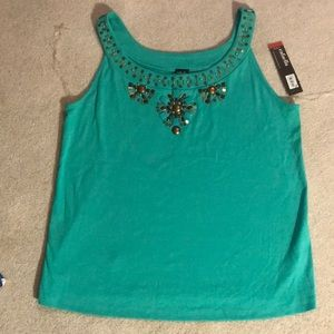 Rafaella Jewelled Tank Top NEW Plus size